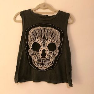COPY - Skeleton knitted muscle tee